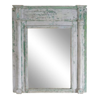 19th C. Swedish Painted Wood Mirror For Sale