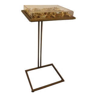 Hollywood Regency Tommy Mitchell Gold Butterfly Cocktail Table For Sale