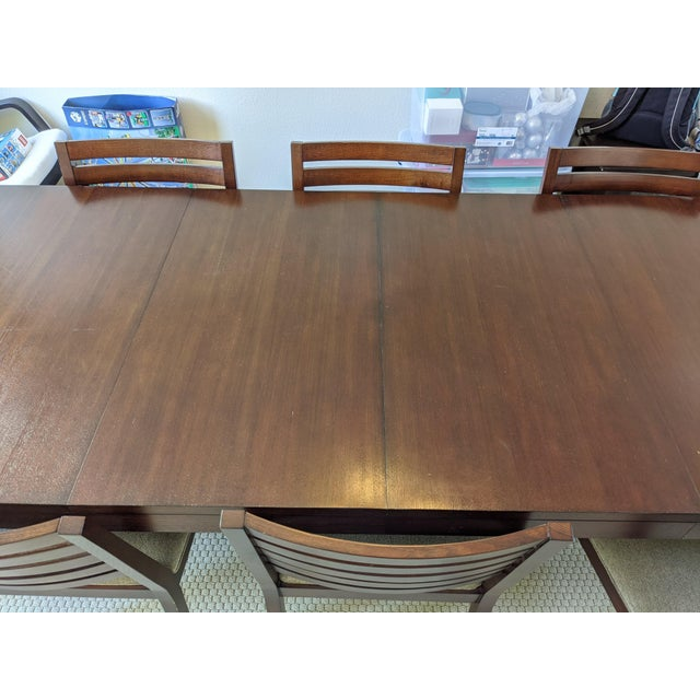 Modern Ethan Allen Midtown Dining Table Set For Sale - Image 3 of 7
