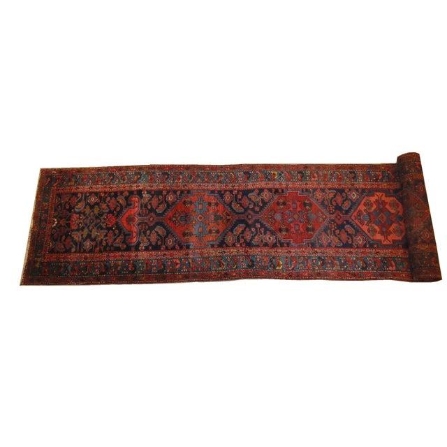 Antique Persian Bijar Runner Rug - 17' x 3' For Sale