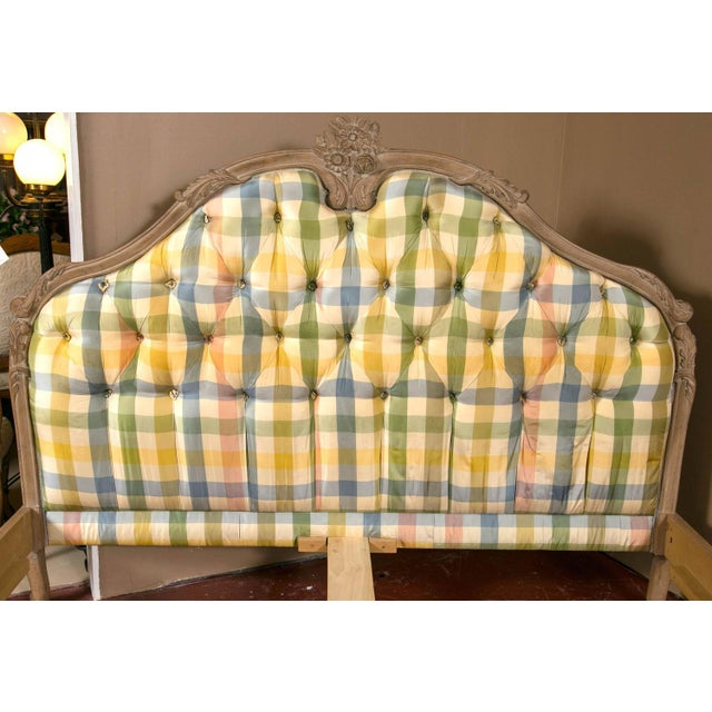 King-Sized Louis XV Style Country French Bed For Sale - Image 7 of 10