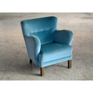 Mogens Lassen Style Danish 1940s Lounge or Club Chair in Mohair Preview