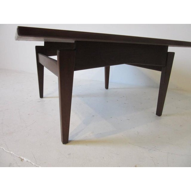 1950s Jens Risom Walnut Coffee Table For Sale - Image 5 of 7