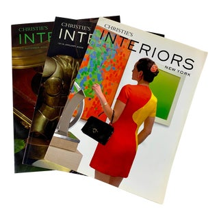 Christie's Ny Interiors Auction Catalogues, 2008-2009, Set of Three For Sale