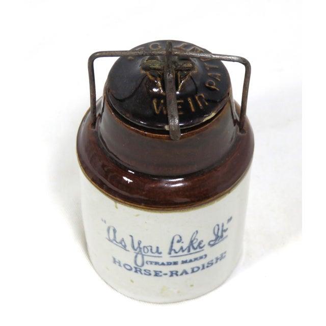 Americana Antique American Stoneware Horsh Radish Jar For Sale - Image 3 of 13