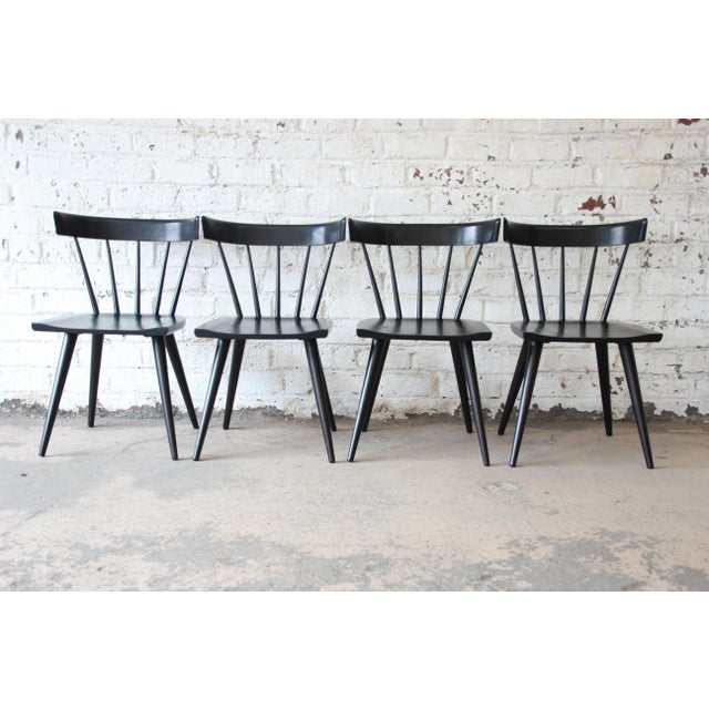 Black Set of Eight Paul McCobb Ebonized Planner Group Dining Chairs For Sale - Image 8 of 13