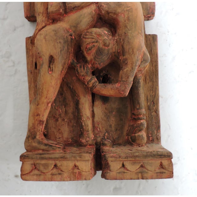 Antique Kama Sutra Erotic Wall Carving - Image 3 of 5