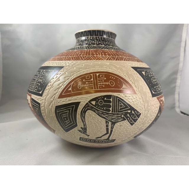Rabbit and Crow Polychrome Vase by Juan Carlos Rodriguez For Sale - Image 4 of 8