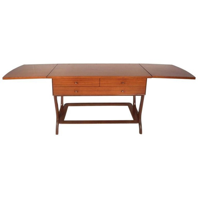 RWAY Mid-Century Modern Drop-Leaf Console Table For Sale In New York - Image 6 of 11