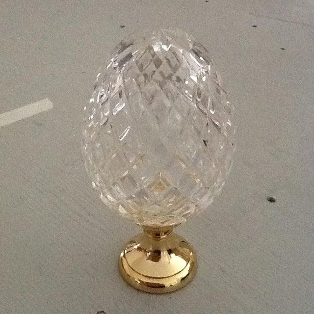 Crystal Newel on Brass Base - Image 3 of 4