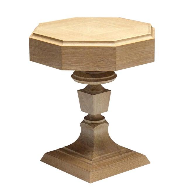 "Truex American Furniture Light Oak ""Rook"" Side Table - Image 1 of 2"
