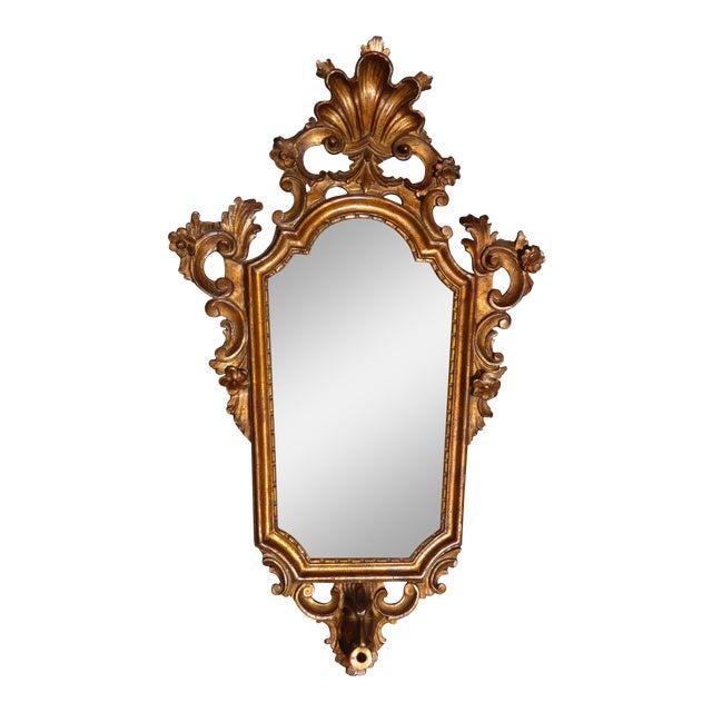 Antique Italian Rococo Giltwood Wall Mirror - Image 1 of 11