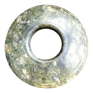 19th Century Jade/Nephrite Bi-Disk For Sale