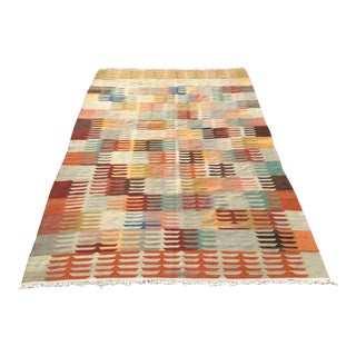 1960's Vintage Turkish Kilim Rug For Sale