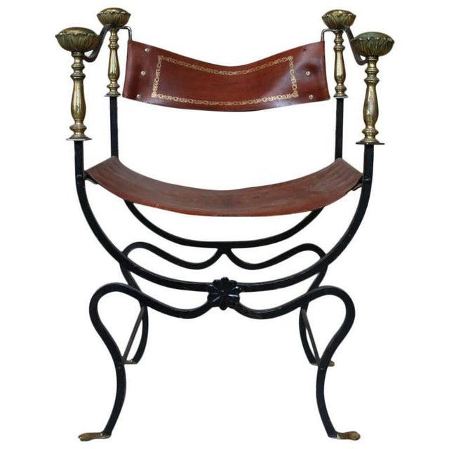 20th Century Italian Iron Campaign Chair For Sale - Image 11 of 11