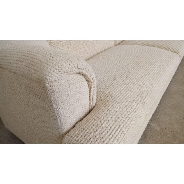 Textile Vintage Contemporary Directional Sofa For Sale - Image 7 of 13