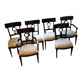 Bernhardt Martha Stewart Mahogany Dining Chairs - Set of 6