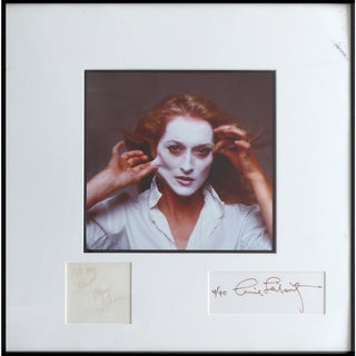 """Annie Leibovitz """"Meryl Streep"""" Photograph Dated 1981 Signed and Numbered 4/40 For Sale"""