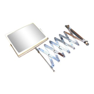 Extendable Wall-Mount Rotating Vanity Mirror For Sale