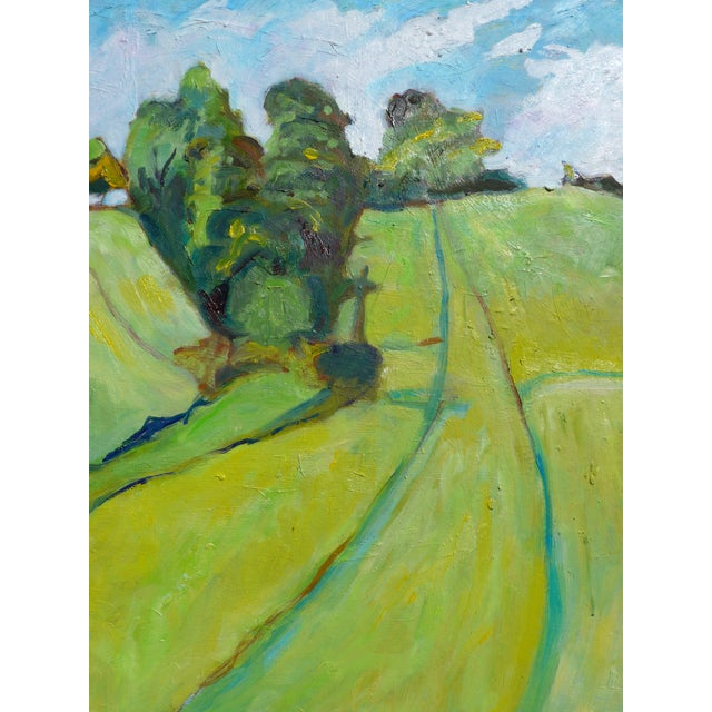 PRICE REDUCED: Over 52 people have liked this piece, be the one to own it!! This is a happy and bright oil on panel...