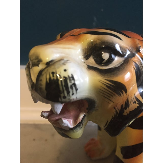 Mid-Century Crouching Tiger Cache Pot - Image 4 of 7