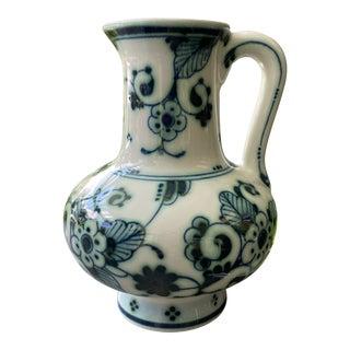 1960s Royal Delft Delvert Green Vase Pitcher For Sale