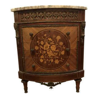 1960s Traditional Style Corner Cabinet For Sale
