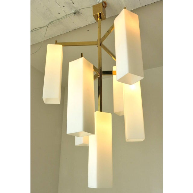 Tiered Palazzo Chandelier by Fabio Ltd For Sale In Palm Springs - Image 6 of 9