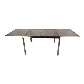 Vintage Mastercraft Expandable Dining Table For Sale