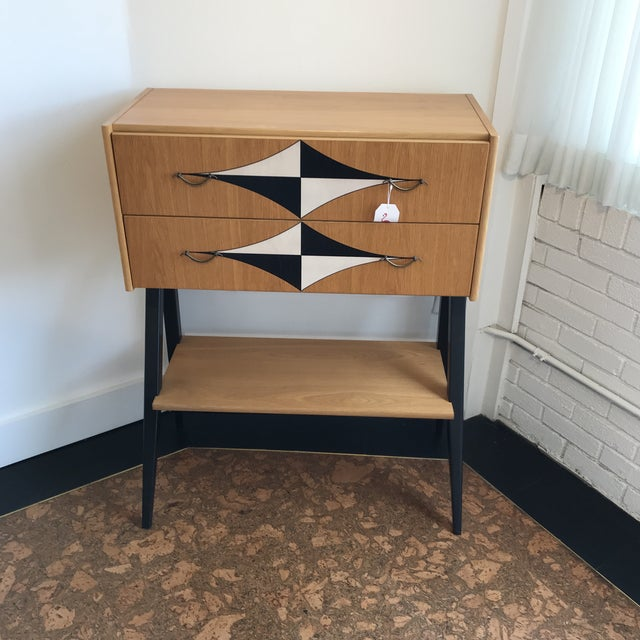 Wood Mid-Century Tall V Leg Cabinet For Sale - Image 7 of 7