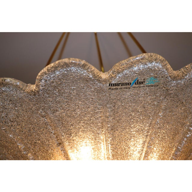 Vintage Mid-Century Modern Murano Glass Pendant Lamp For Sale - Image 10 of 13