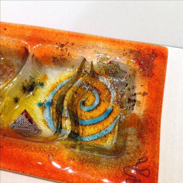 Fused Glass Art Dish - Image 5 of 10