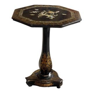 19th Century Papier Mache Side Table For Sale