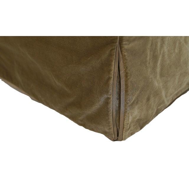 Nancy Corzine Nancy Corzine Sage Velvet Silk Velvet Tuxedo Sofa For Sale - Image 4 of 5