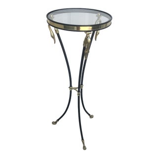Hollywood Regency French Maison Jansen Style Gooseneck Plant Stand For Sale
