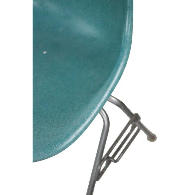 Turquoise Herman Miller Fiberglass Eames Shell Chair - Image 4 of 9