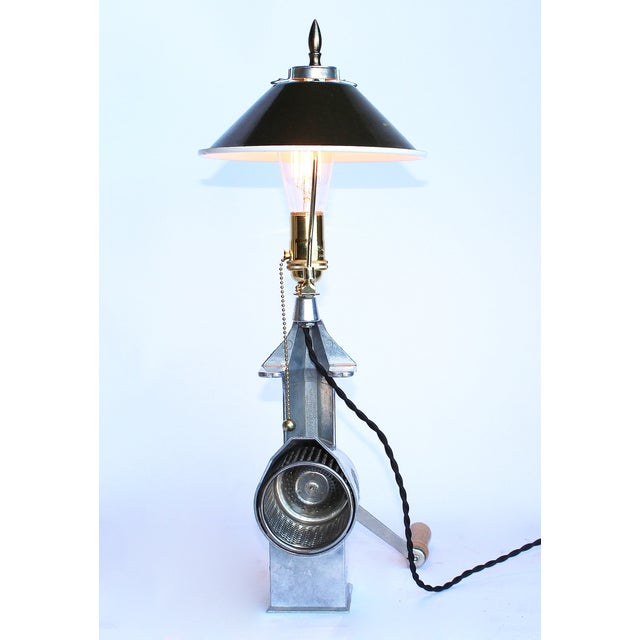 1950s Vintage Cheese Grater Lamp - Image 3 of 4