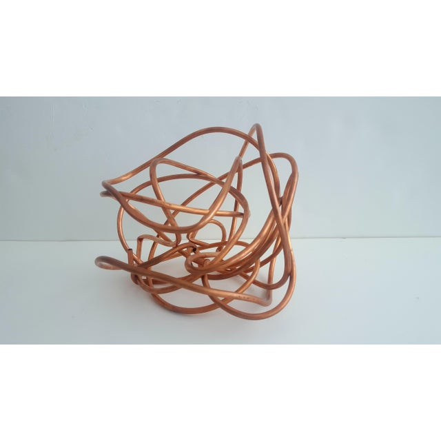 """Original Copper Coil """"Chaos"""" Twisted Knot Sculpture - Image 6 of 11"""