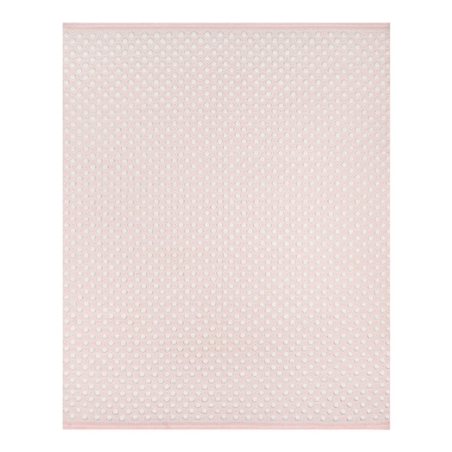 """Erin Gates by Momeni Langdon Windsor Pink Hand Woven Wool Area Rug - 3'9"""" X 5'9"""" For Sale"""