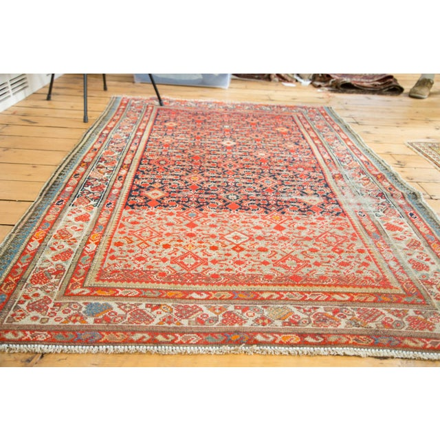 "Distressed Antique Malayer Rug - 4'1"" X 6' - Image 5 of 8"