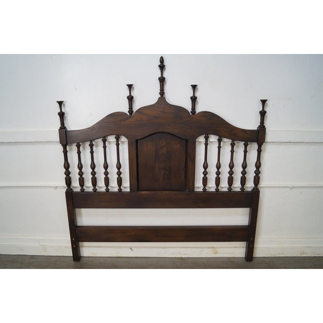 Quality French Country Oak Spindle Back Headboard Chairish