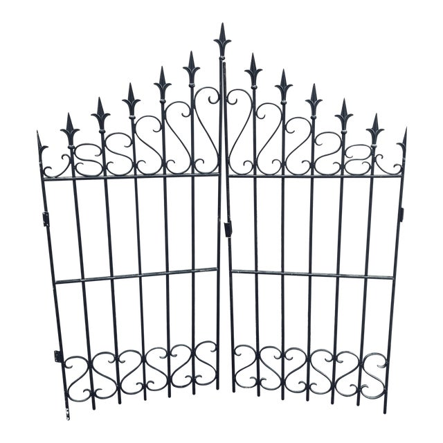 Heavy Wrought Iron Gate For Sale