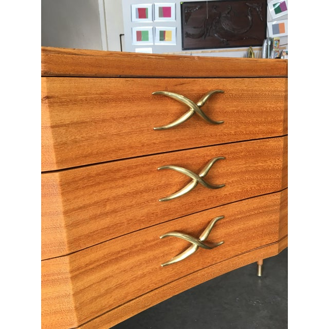 Brown High Style Mid Century Mahogany Sideboard by Paul Frankl For Sale - Image 8 of 9