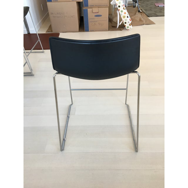 Black Leather Counter Stools by Arper - Set of 4 - Image 5 of 7