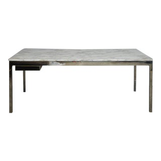 Nicos Zographos Marble and Stainless Steel Desk