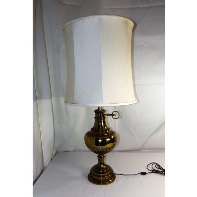 This beautiful, large real brass table lamp is perfect for the central light source in a room. 3 way switch for any light...