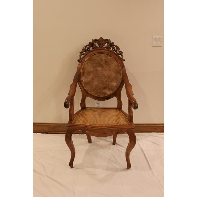 Vintage Carved Accent Chair - Image 11 of 11