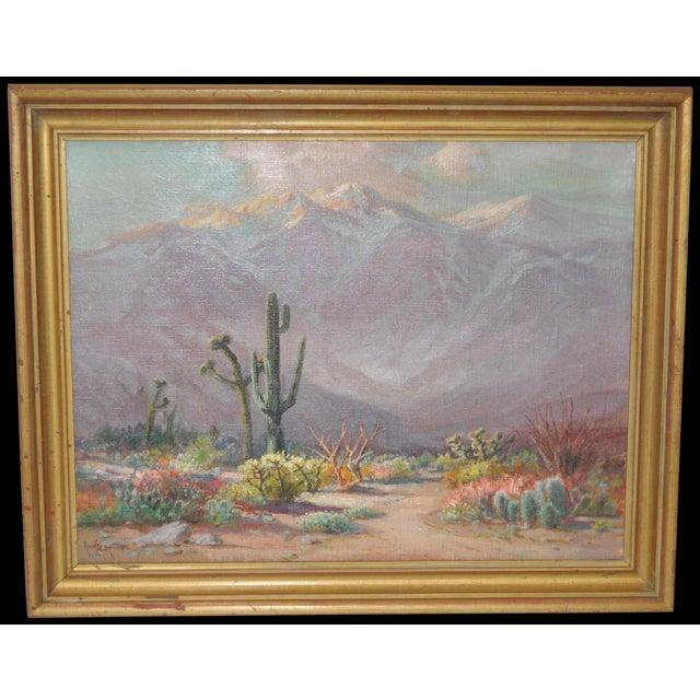 Arthur Best (1859-1935) American landscape painter. Fabulous desert landscape by Arthur Best circa 1920s. Beautiful colors...
