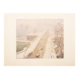1947 Le Pont Neuf, Paris by Albert Marquet, Original Period Lithograph For Sale