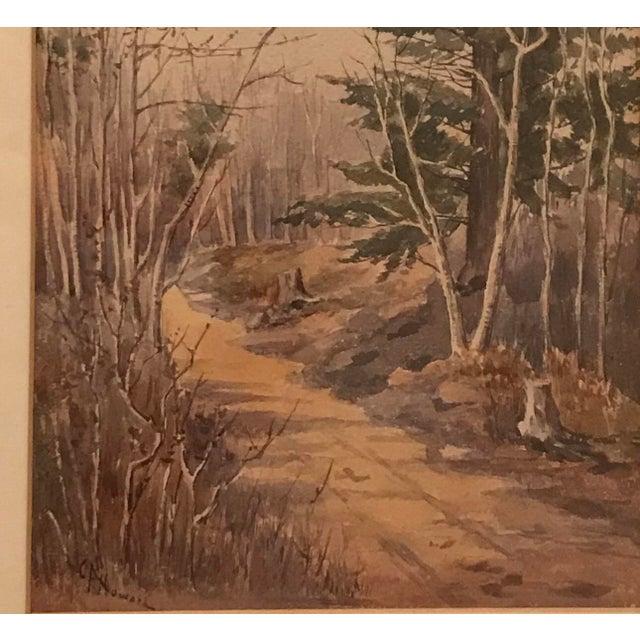 Original Vintage Landscape Painting Signed c.a. Howard For Sale - Image 4 of 5